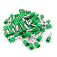 50pcs AWG12 Wire Copper Crimp Connector Insulated Ferrule Terminal Green Terminals     -