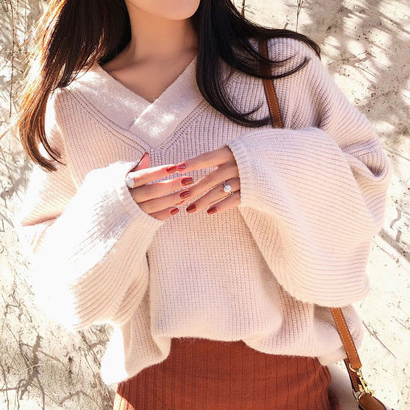 Image 4 - Hot Woman Autumn Knit Two Pieces Suit Solid Female Casual Sweater Pencil Skirt Sets Winter Warm Knitted Two Pieces Suits Woman-in Women's Sets from Women's Clothing