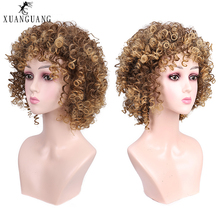 Crépus Bouclés модная одежда по индивидуальному заказу, Température волокна Femelle Synthétique парик для косплея Хэллоуин парик