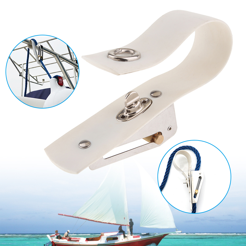 6.3 Inch Boat Fender Adjuster Marine Rope Adjuster Metal Buckles PVC Mounting Band For Yacht Speedboat Boat Accessories Marine