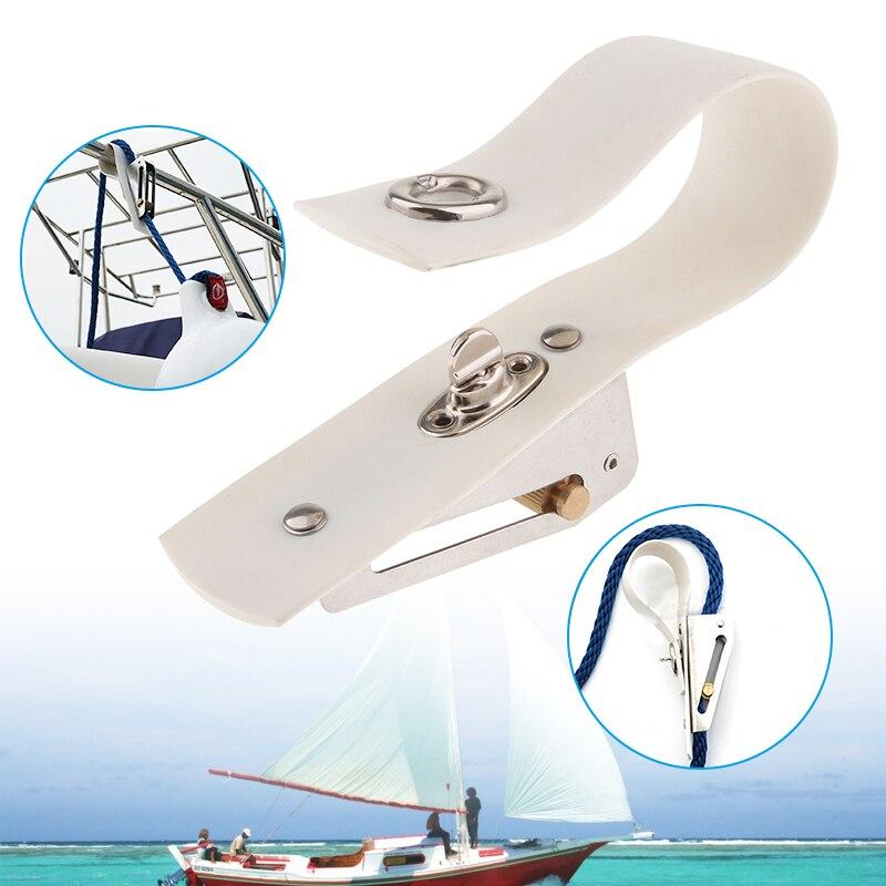 Ajustador de guardabarros de barco de 6,3 pulgadas, ajustador de soga marina, hebillas de Metal, banda de montaje de PVC para yates, lancha rápida, accesorios para barcos marinos
