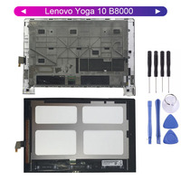 KUERT For Lenovo Yoga 10 B8000 60046 60047 LCD Display Screen Digitizer Touch Panel Glass Assembly with Frame Replacement