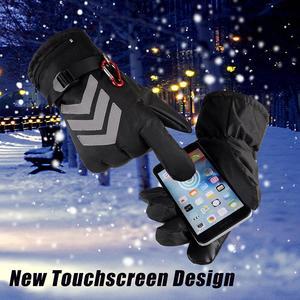 Image 3 - חורף יד חם חשמלי תרמית כפפות נטענת סוללה מחומם כפפות רכיבה על אופנוע אופניים סקי כפפות
