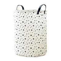 1 Piece Foldable Laundry Basket in Cotton and linen for Kids Portable Durable Organizer Storage Basket Storage ( star pattern )|Laundry Bags| |  -