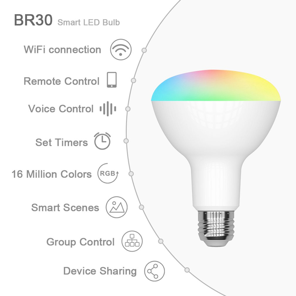 Smart Wifi Lamp RGB Lamp Wake-up Lamp Lights WiFi Smart Bulb Support For Amazon ECHO Google Home IFTTT