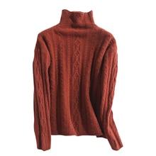 LONGMING 2021 New Cashmere Sweater Turtleneck Women Merino Wool Pullover Knitting Soft Winter Clothes Jumper Women knitwear