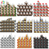 Disney Medieval Roman Soldier Building Blocks Roman Knight Lord Warrior Figures Bricks Educational Toys For Kids Christmas Gifts