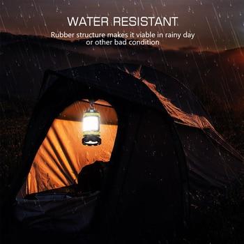 Dropshipping Portable LED Camping Lantern Work Light Outdoor Tent Light Handheld Flashlight USB Rechargeable Port Spotlight 3