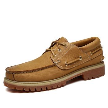 Marka biznes sukienka w stylu męskie buty zasznurować prawdziwej skóry męskie buty gumowe buty męskie wygodne buty w stylu casual duży rozmiar 47 5 tanie i dobre opinie WOSHI Skóra bydlęca Kożuch T61256 Podstawowe Lace-up Stałe Wiosna jesień Pasuje prawda na wymiar weź swój normalny rozmiar