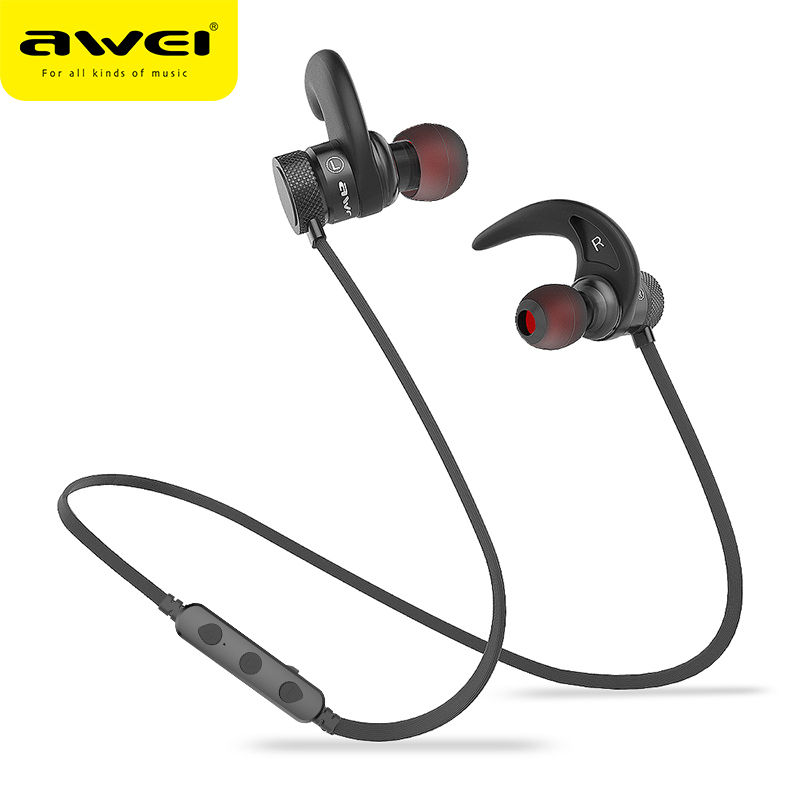 AWEI A920BLS Bluetooth Earphone Wireless Headphone Bass Sport Bluetooth Headset Auriculares Cordless Headphones Casque 10h Music