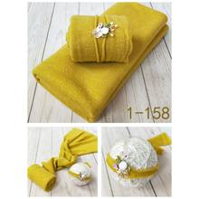 2 Pcs Newborn Photography Props Baby Wraps Blanket Photo Shooting Accessories P31B(China)