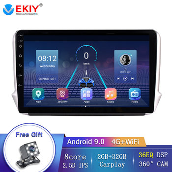 EKIY 10.1 8 Core Multimedia System Car Radio For Peugeot 2008 208 2014-2018 Android 9.0 4G/Wifi Navigation GPS Autoradio Canbus image