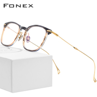 Pure B Titanium Acetate Optical Glasses Frame Men Myopia Prescription Eyeglasses Women Ultralight Transparent Spectacles Eyewear