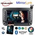 7 дюймов для Bora Golf VW Polo Volkswagen Passat B6 B7 Touran Android авто для Iphone gps навигация автомобиля стерео радио Зеркало Ссылка