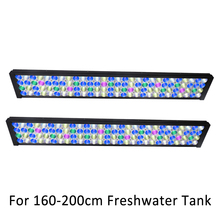"72"" 180cm 6ft Full Spectrum Dimmable Aquarium LED Lighting For Freshwater Fish Planted Tank With  Control"