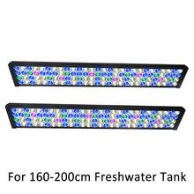 """72 """"180cm 6ft ספקטרום מלא ניתן לעמעום אקווריום תאורת LED עבור מים מתוקים דגי טנק ניטע עם שליטה"""