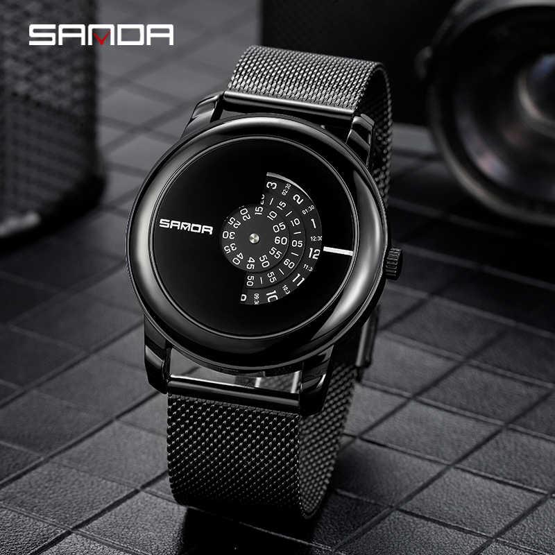 2020 עסקים Mens שעון מינימליסטי יוקרה Ultra דק נירוסטה Mesh להקת שעון יד אנלוגי קוורץ שעונים Relojes Hombre