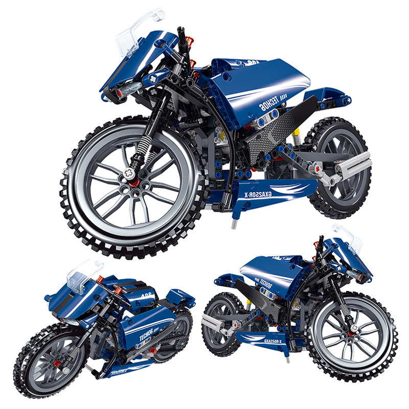 New City High-tech Motorcycle Car Model Building Blocks Speed Racing Bricks Toys MOC MotoBike Vehicle Creator For Kids Gifts