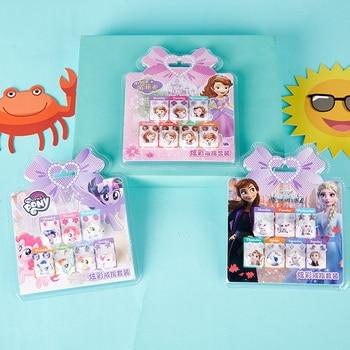 Disney Frozen 2 Elsa Anna Sofia Princess Rings And Stickers Girls Makeup Toys Pony Princess Pretend Play Kids Disney Jewelry Set недорого