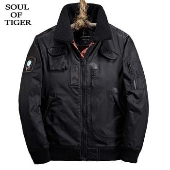 SOUL OF TIGER 2019 Korean Fashion Men Warm Cotton Padded Parkas Male Oversized Pilot Jackets Winter New Luxury Casual Streetwear