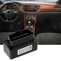 Carro obd gps tracker plug and play rastreador de carro obd gps rastreador de carro em tempo real localizador com sos alarme geo-cerca aplicativo gratuito