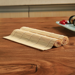 1pc DIY 24*24cm Bamboo Sushi Mat Onigiri Rice Roller Rolling Maker Tool Supplies Roll Tools Japanese Kitchen Stuff Gadgets