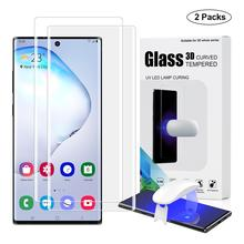 Screen Protector with fingerprint unlock for Samsung Galaxy Note 10 Plus UV Glass film full cover for Note 10 tempered glass