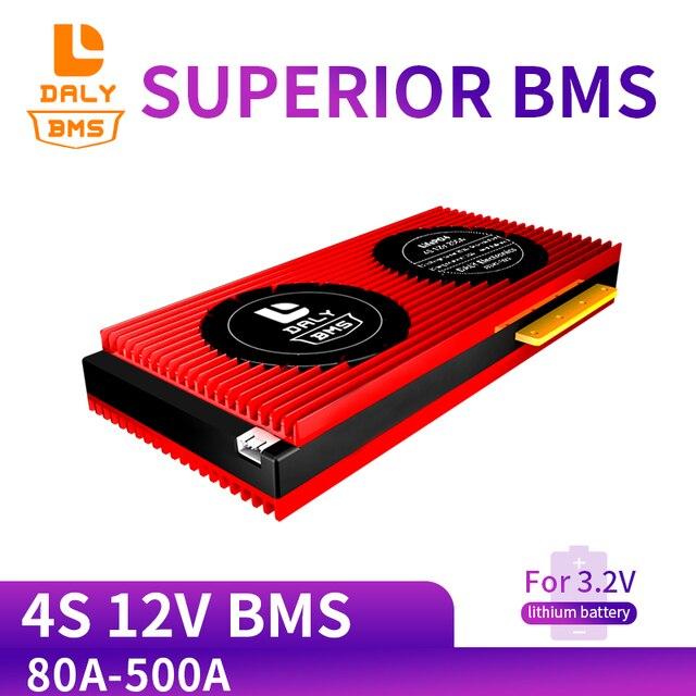 Daly bms batería LiFepo4 de litio de 3,2 V, 4s, 80A, 120A, 200A, 300A, 500A, 18650 BMS, con Balance para Módulo de batería lili ion Lipo