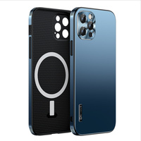 Magnetic Attraction Case for iPhone 12 Pro Max Compatible with Magsafe 360 Degree Full Body Protection Metal+Hard PC Back Cover