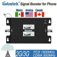 אמריקה נייד אותות בוסטרים לבית ולמשרד 65dB 850/1900Mhz להקה כפולה אות מהדר להגברת 3G אות מהדר