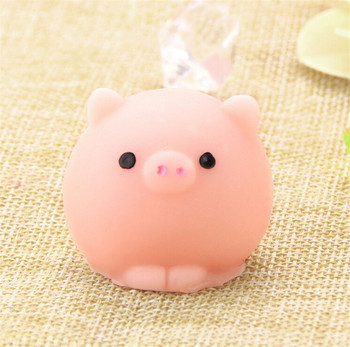 Kawaii Squishy Pig Ball Mochi Squeeze Prayer Cute Toy Collection Fun Joke Gift Anti-stress Toys Novelty Gift image