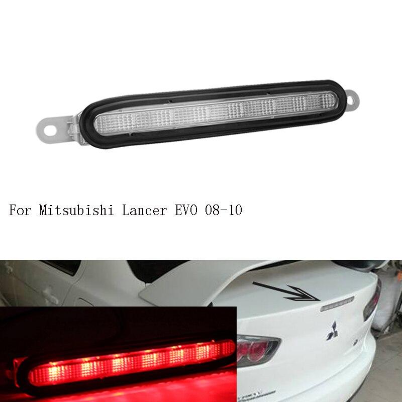 Высокопозиционный монтируемый Дополнительный 3-й светильник светодиодный задний Высокий тормозной светильник для Mitsubishi Lancer EVO 08-10 Высокое