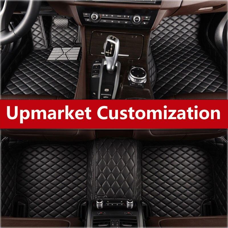 2018 alfombrillas para el suelo de coche, alfombrilla impermeable para Chevrolet Malibu Xl Cavalier Equinox Spark Camaro plateado Colorado - 4