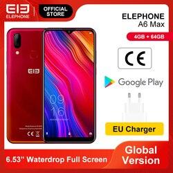 Elephone A6 MAX мобильный телефон MT6762V 4 Гб 64 Гб 6,53 ''экран 20 МП фронтальная камера отпечаток лица разблокировка смартфона Android 9,0