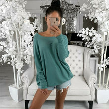 off shoulder top women clothes Womens Loose Blouse Long Sleeve Fashion Ladies
