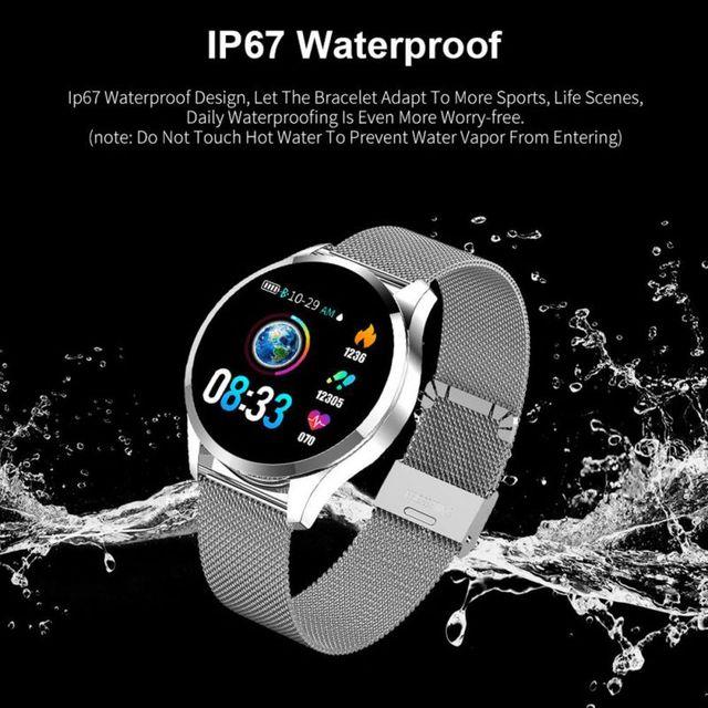 Fajny wygląd Q9 inteligentny zegarek wodoodporny wiadomość przypomnienie połączeń Smartwatch mężczyźni pulsometr moda opaska monitorująca aktywność fizyczną