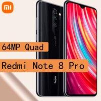 Celular Xiaomi Redmi Note 8 Pro smartphone 6GB RAM 128GB ROM Helio G90T 4500mAh 64MP Quad Camera