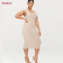 Plus Size Women 5XL Dress 2019 Autumn Big Mid-calf Length Sexy Slim Pencil Bodycon Female Casual Party Dresses Overlay Vestidos