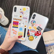 Bonita funda de teléfono con etiqueta sonriente para Huawei P40 P30 P20 Lite Mate 30 Pro 20 lite P smart Nova 5t para Honor 20 10 8X 8a V20