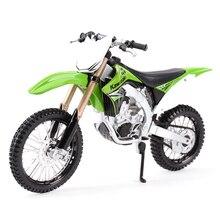 Maisto 1:12 Kawasaki KX 450F зеленый литой автомобиль коллекционные хобби мотоцикл модель игрушки