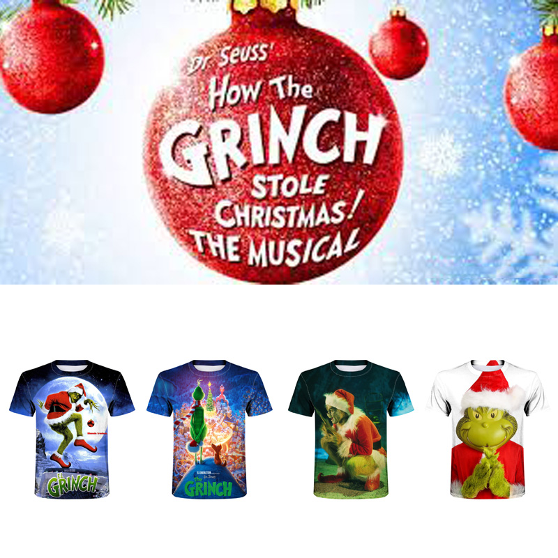 How the Grinch Stole Christmas Printed Men T-shirt Summer Fashion Funny Anime t shirt O-neck Casual Harajuku Tee Tops Camiseta image