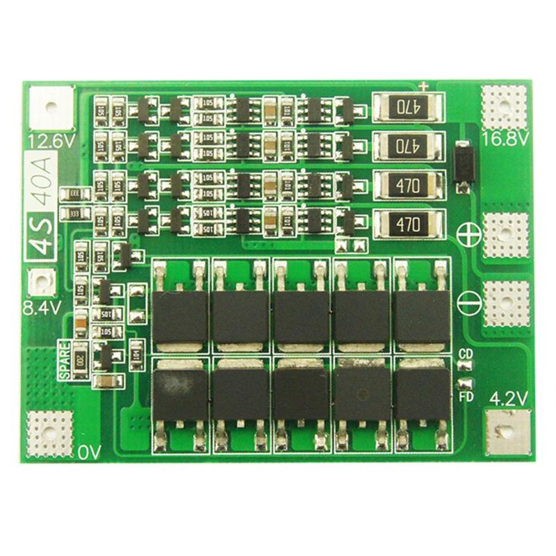 Balancer Charger Circuit-Protection-Board Drill Pcb Bms Lithium-Battery 4s 40a Li-Ion title=