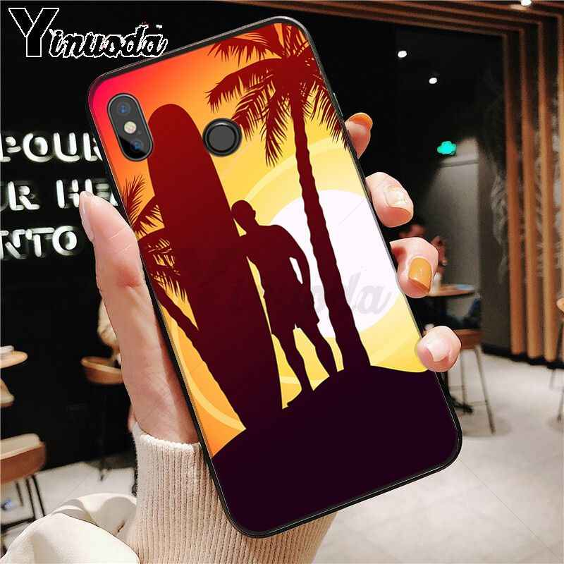 surfboard surfing art surf Girl Phone Case Cover Shell for redmi note8 pro note7 note5 note6pro 7 7A 5 5A 8 S2 Mobile Cases