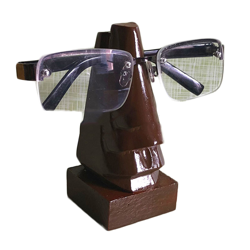 Wood Spectacle Holder Wood Nose Eyeglass Holder Sunglasses Display Stand Unique Desktop Accessory And Gifts
