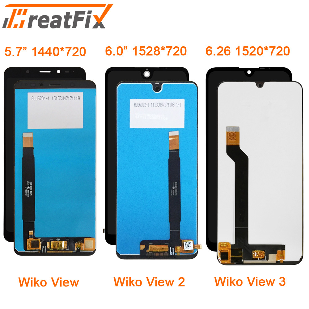 Original Tested For Wiko View 2 View 3 LCD Touch Screen LCD Display Assembly Replacement Lcd For Wiko View View2 View3 Screen