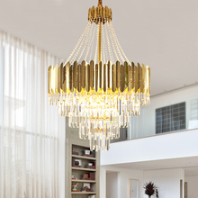 2020 Large Crystal Hollw Chandelier Lighting For Duplex Building Stair Luxury Hotel Lobby Villa Living Room duplex building stair crystal chandelier spiral villa foyer led chandeliers light lighting free shipping