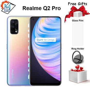 Перейти на Алиэкспресс и купить Realme Q2 Pro 5G мобильный телефон 6,4 дюймов полный Экран 8 ГБ + 128 ГБ Dimensity 800U Octa Core 48MP Камера 4300 мА/ч, Батарея смартфон