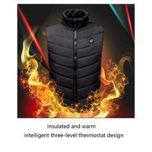 Мужской жилет с зарядкой от usb для мобильных устройств, теплый жилет с электрическим подогревом, регулируемая usb-зарядка, одежда с подогревом
