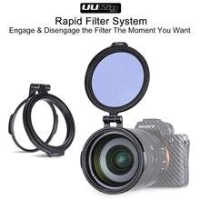 ND filtre interrupteur rapide anneau support DSLR lentille support rabattable 49mm 58mm 67mm 72mm 77mm 82mm 67 72 77 à 82mm filtre adaptateur anneau