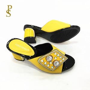 Image 1 - Chaussons pour femmes chaussons pour femmes nigérians avec diamants pour chaussures pour femmes
